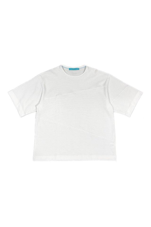 MUZE turquoise label - COOLMAX LYNX MERCERIZED T-SH(WHITE)