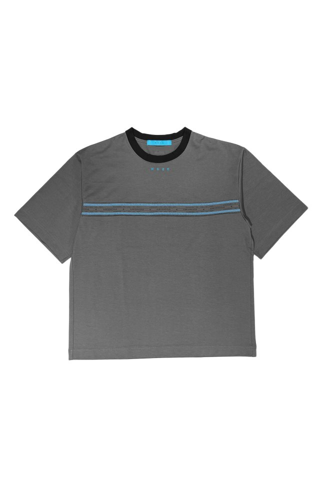 MUZE turquoise label - SUBCONSCIOUS T-SH(CHACOAL)