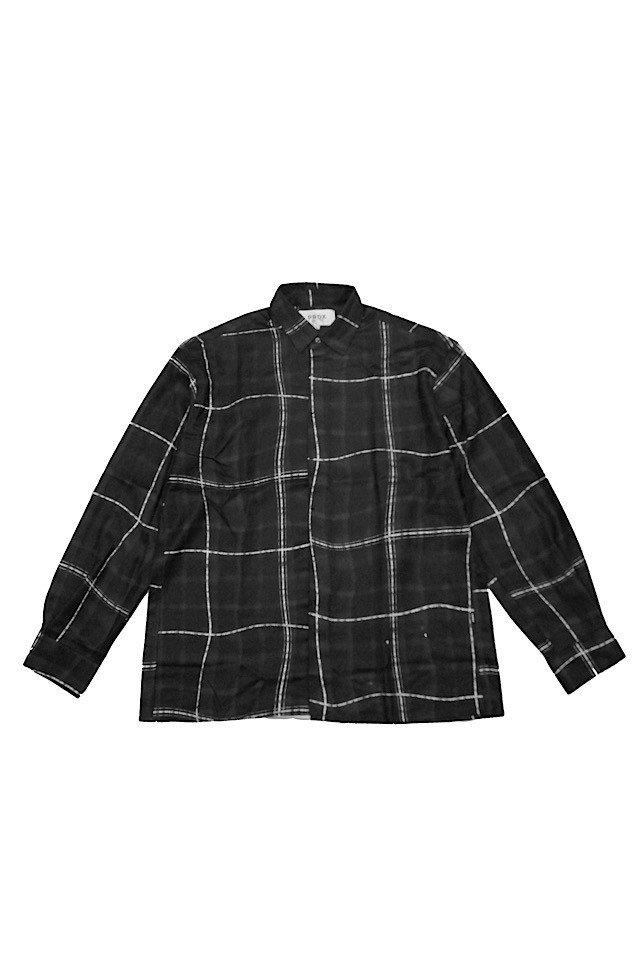 PRDX PARADOX TOKYO - PRINTED CHECK SHIRTS (BLACK)