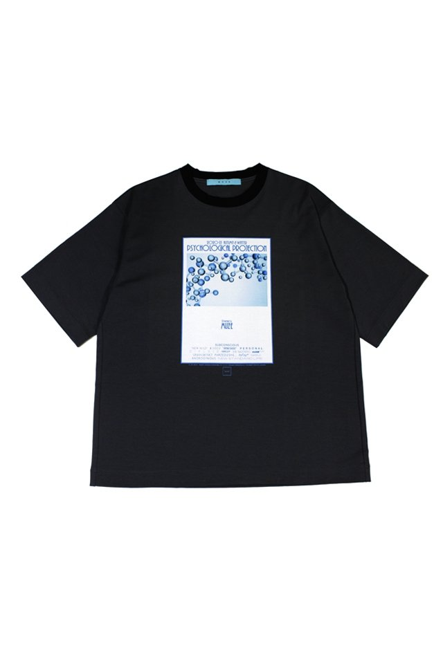 MUZE turquoise label - MUZE GALLERY 2nd ANNIVERSARY PSYCHOLOGICAL PROJECTION T-SH(BLACK)