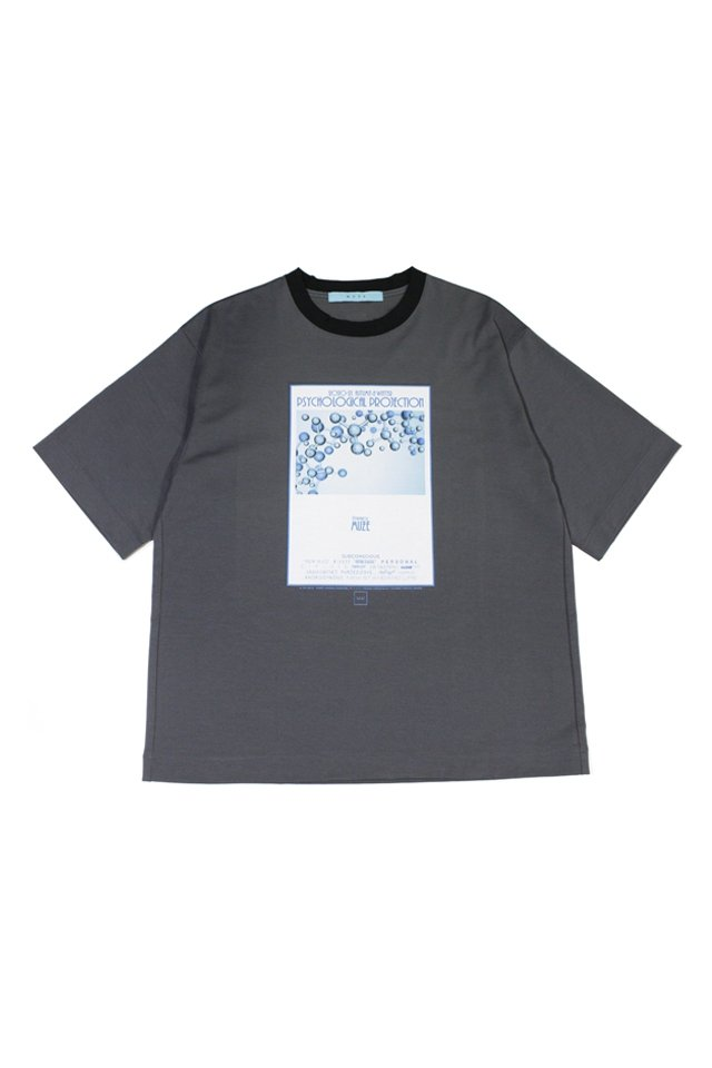 MUZE turquoise label - MUZE GALLERY 2nd ANNIVERSARY PSYCHOLOGICAL PROJECTION T-SH(CHARCOAL)