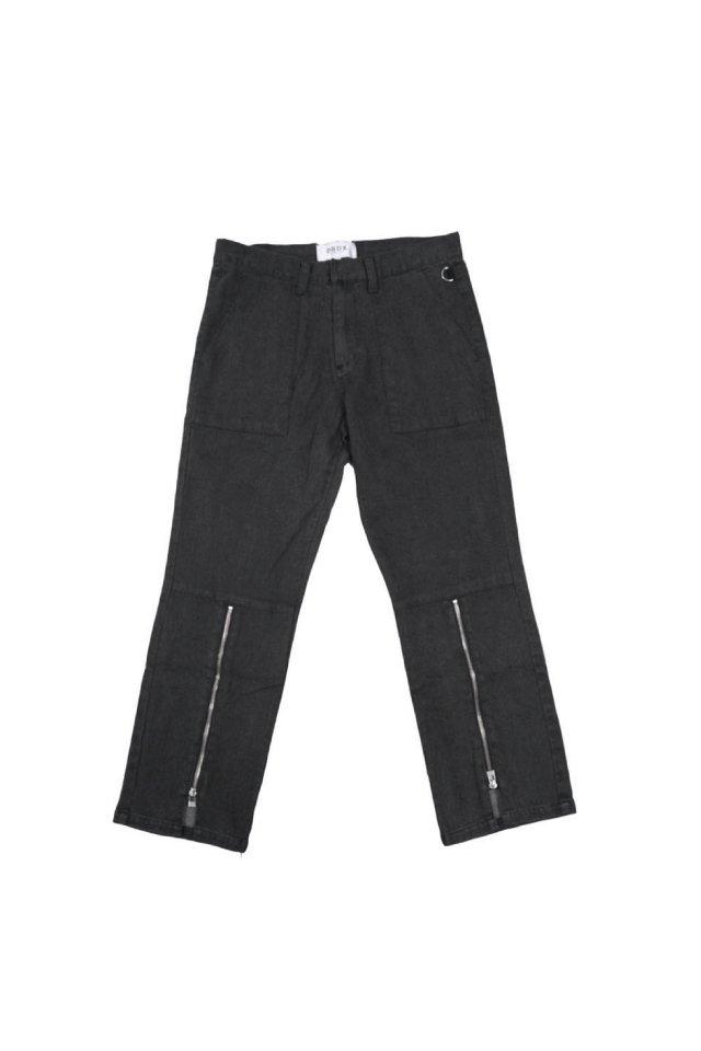 【40%OFF】PRDX PARADOX TOKYO - HALF ZIP FLARE PANTS (WASH BLACK DENIM)