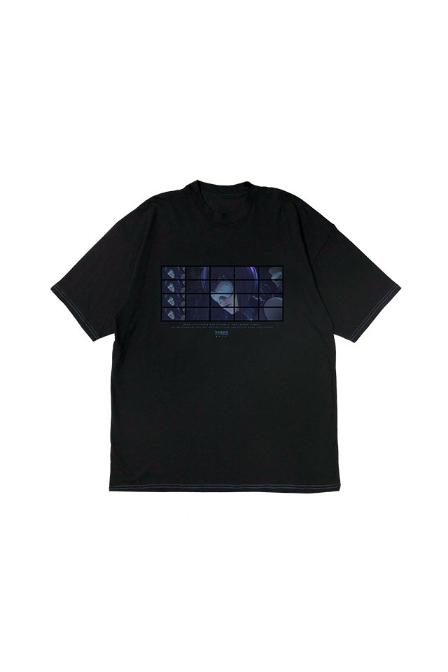 MUZE × 攻殻機動隊 SAC_2045 - MOTOKO sunglasses T-SHIRTS ( BLACK )