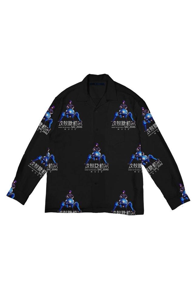 【coming soon】【11月上旬発売予定】MUZE × 攻殻機動隊 SAC_2045 - 2045 MOTOKO TACHIKOMA  SHIRTS ( BLACK )