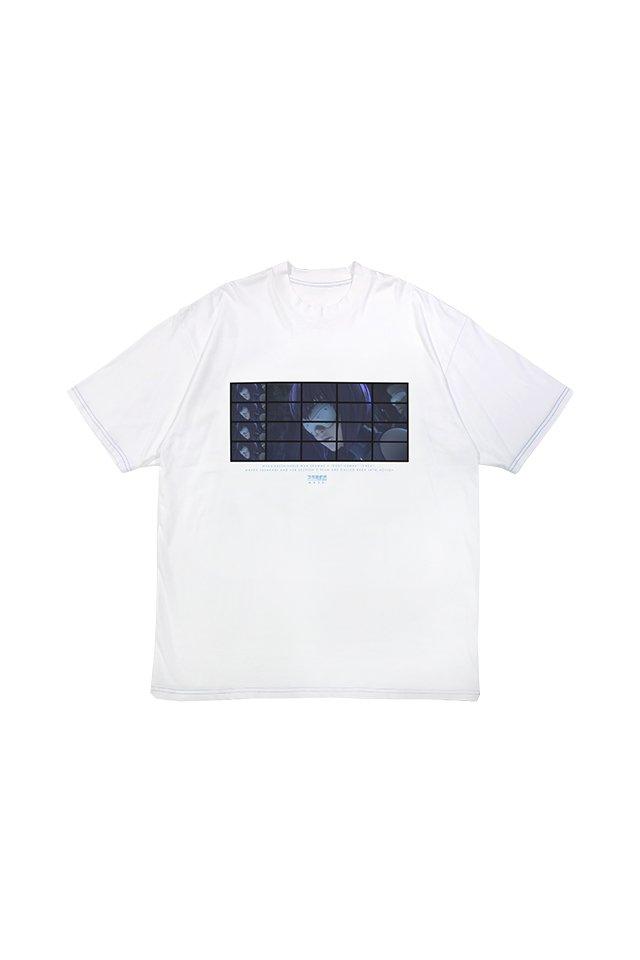 【先行予約/9月下旬お届け】MUZE × 攻殻機動隊 SAC_2045 - MOTOKO sunglasses T-SHIRTS ( WHITE )