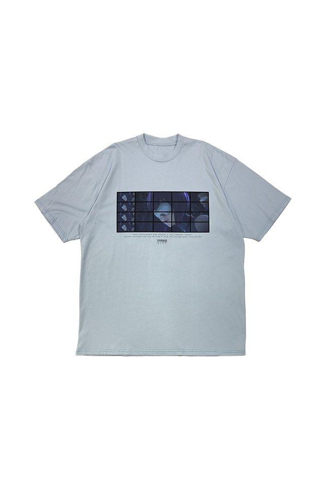 【先行予約/9月下旬お届け】MUZE × 攻殻機動隊 SAC_2045 - MOTOKO sunglasses T-SHIRTS ( LIGHT BLUE )