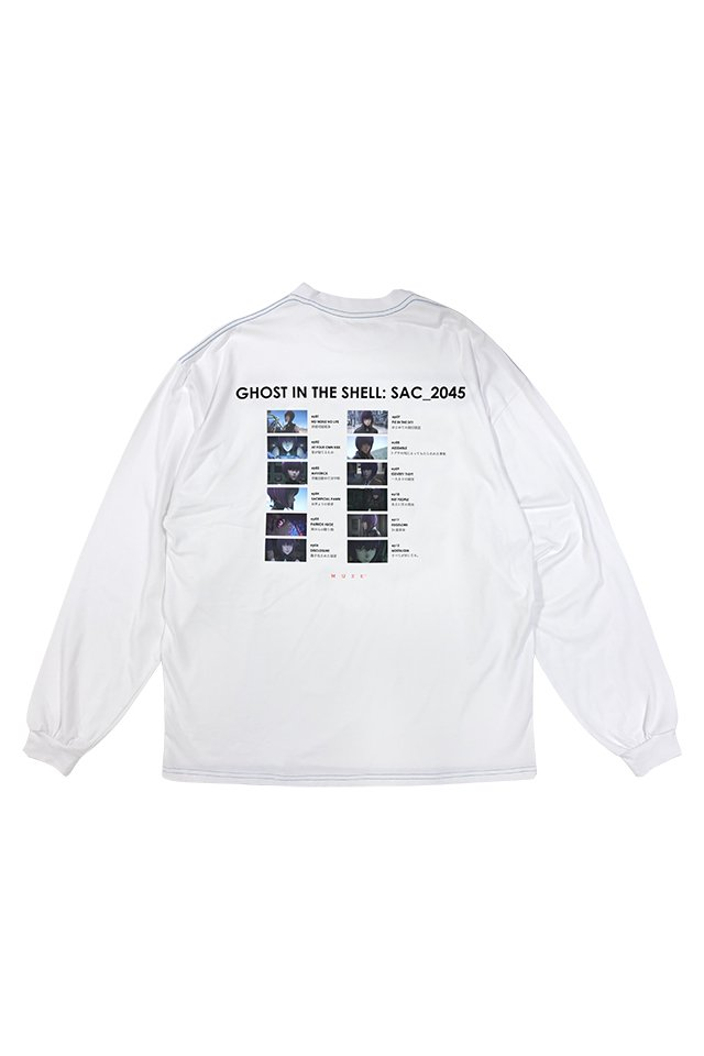 MUZE × 攻殻機動隊 SAC_2045 - 2045 Chapter L/S  T-SHIRTS ( WHITE )