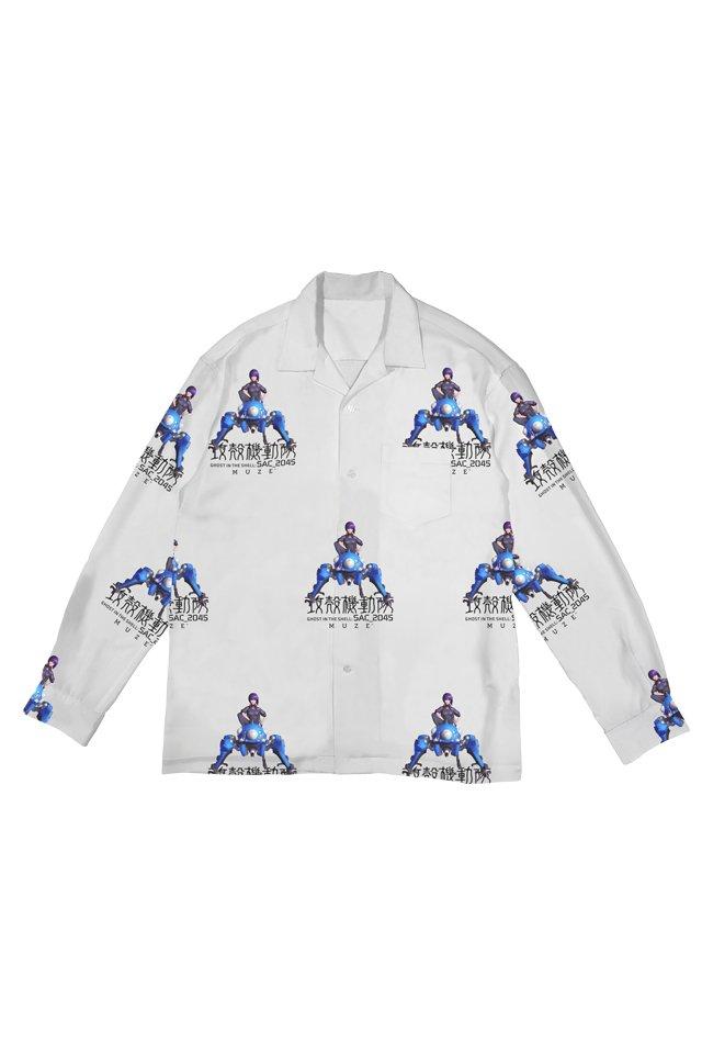 【coming soon】【11月上旬発売予定】MUZE × 攻殻機動隊 SAC_2045 - 2045 MOTOKO TACHIKOMA  SHIRTS ( WHITE )