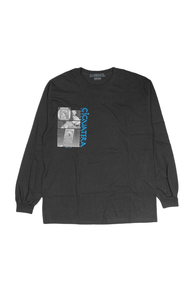 MUZE×CIGUATERA  - Feature Phone L/S T-SH-(BLACK)