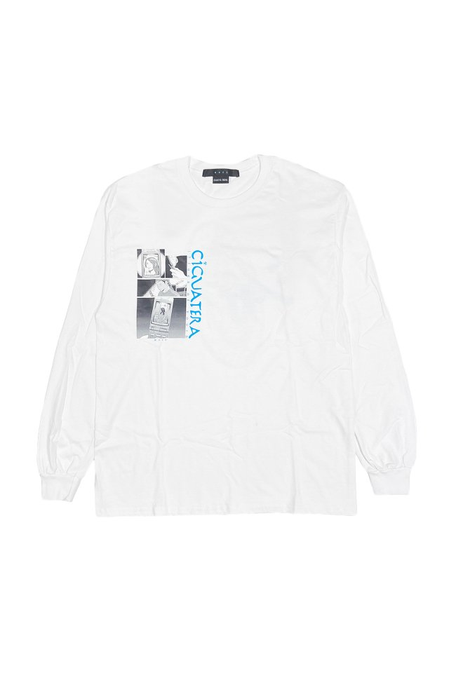 MUZE×CIGUATERA - Feature Phone L/S T-SH-(WHITE)