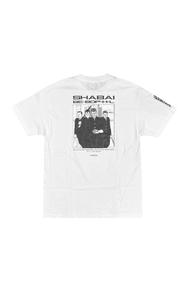 H>FRACTAL×BE-BOP-HIGHSCHOOL - SHABAI TEE(WHITE)
