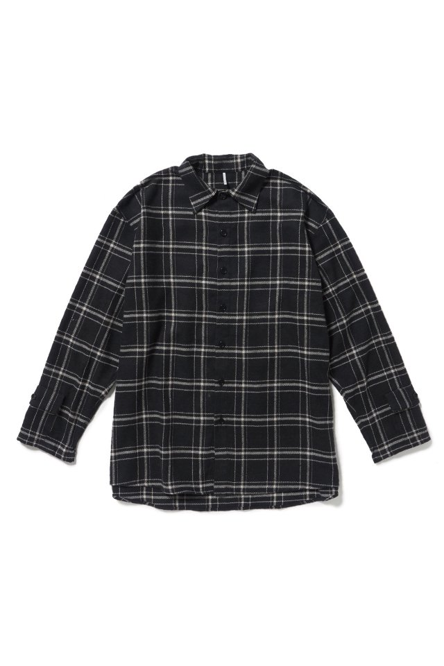 【10%OFF】ETHOS - NOISE CHECK SHIRTS(BLACK) 20-21AW COLLECTION