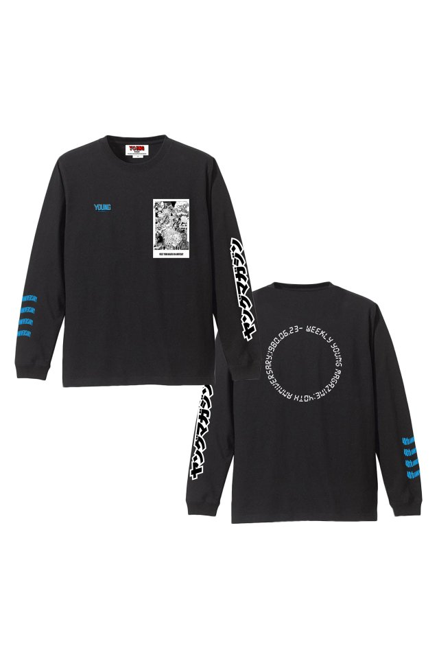 YM40th Anniversary - 『ヤンマガ』L/S T-SHIRTS(BLACK)