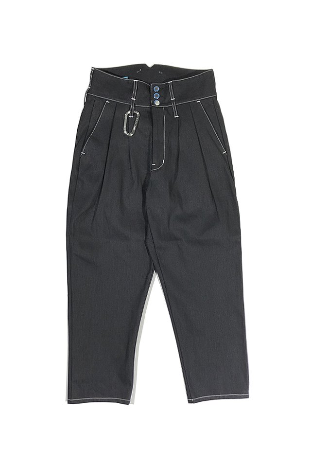 MUZE TURQUOISE LABEL - MUZE×vanilla WIDE DENIM SLACKS(BLACK)