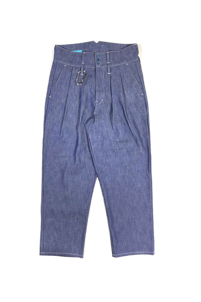 MUZE TURQUOISE LABEL - MUZE×vanilla WIDE DENIM SLACKS(INDIGO BLUE)