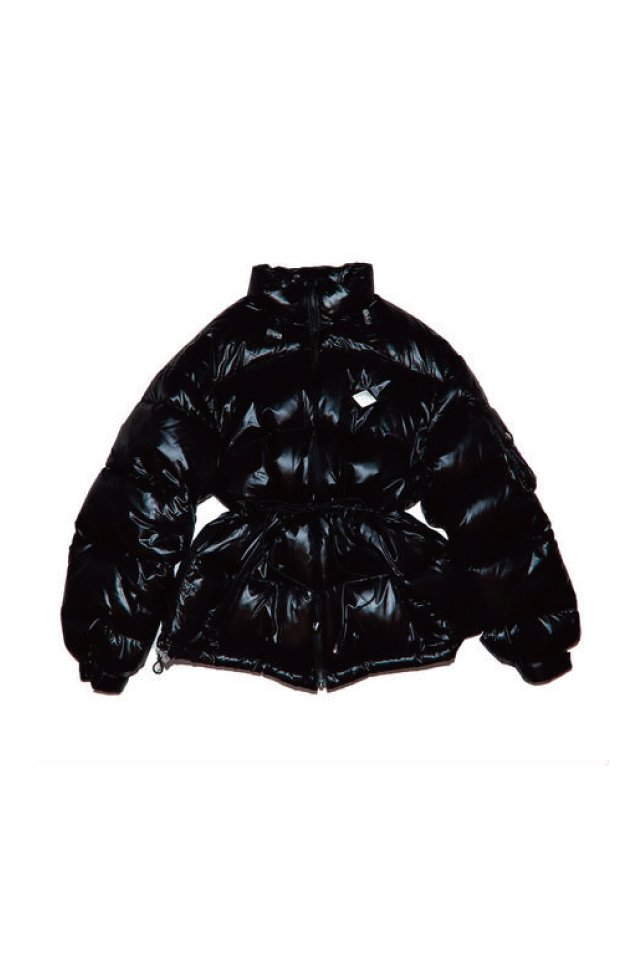 【20%OFF】elconductorH - SHINY NYLON DOWN JACKET(BLACK)