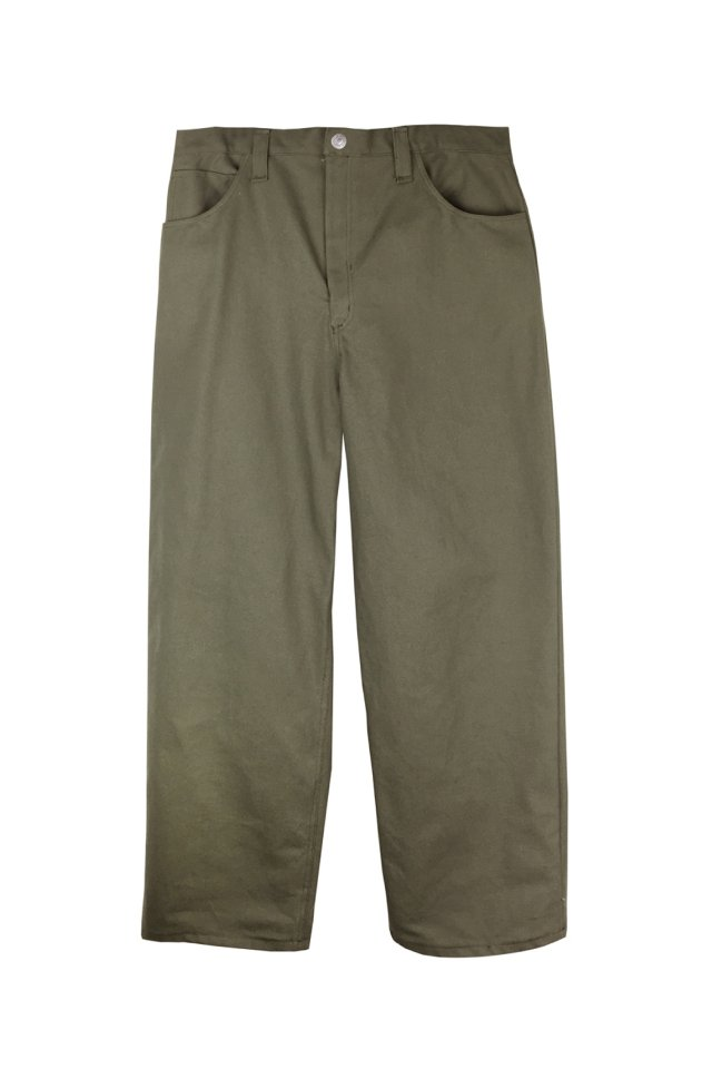 【20%OFF】cycle by MYOB - WIDE CHINO TROUSERS  (KHAKI) 2020 FALL WINTER COLLECTION