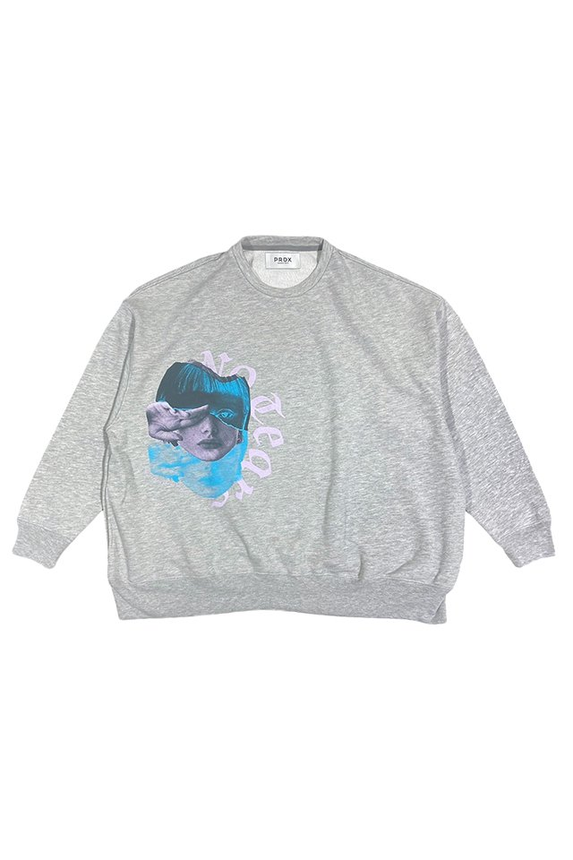 【50%OFF】PRDX PARADOX TOKYO - GRAPHIC WIDE SWEAT(NO TEARS)(GRAY)