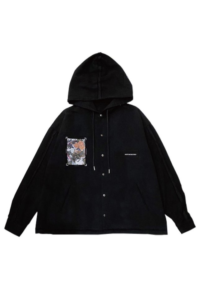 PRDX PARADOX TOKYO×KEI NOJIMA - NOT DETECTED HOODED SHIRTS (BLACK)