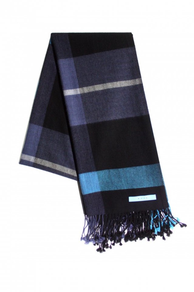 MUZE TURQUOISE LABEL - CHECK SCARF(MUZE GALLERY LIMITED COLOR)