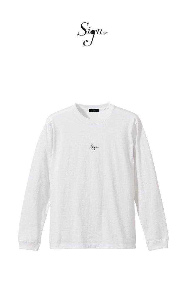 【先行予約アイテム限定商品3月上旬-3月中旬お届け予定】Sign1019 - Sign1019 embroidery L/S TEE(WHITE)