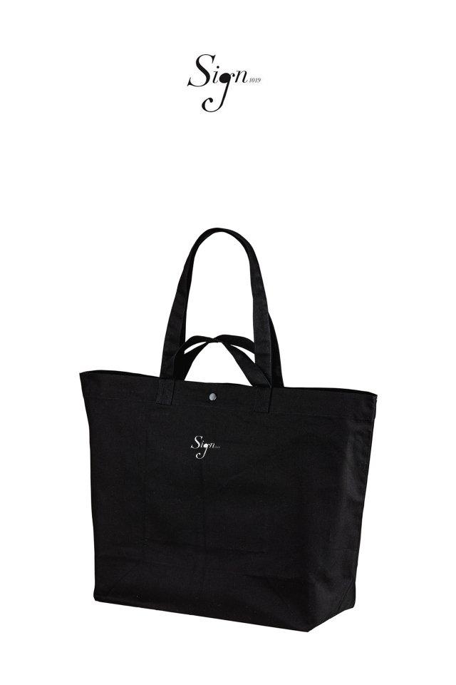 【先行予約アイテム限定商品3月上旬-3月中旬お届け予定】Sign1019 - Sign1019 embroidery TOTE BAG(BLACK)