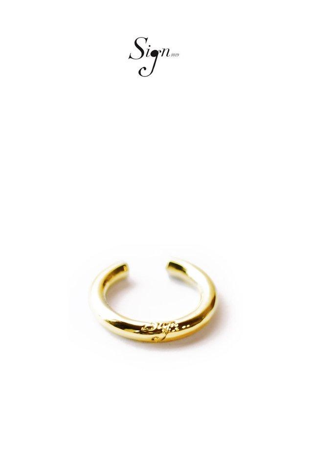 【先行予約アイテム限定商品3月上旬-3月中旬お届け予定】Sign1019 - Sign1019 CIRCLE EAR CUFF(GOLD)