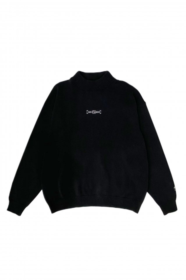 【10%OFF】PRDX PARADOX TOKYO - MOCKNECK KNIT「out of control」(BLACK)