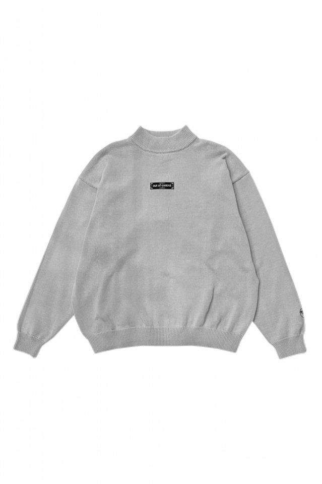 【10%OFF】PRDX MOCKNECK KNIT「out of control」(GRAY)