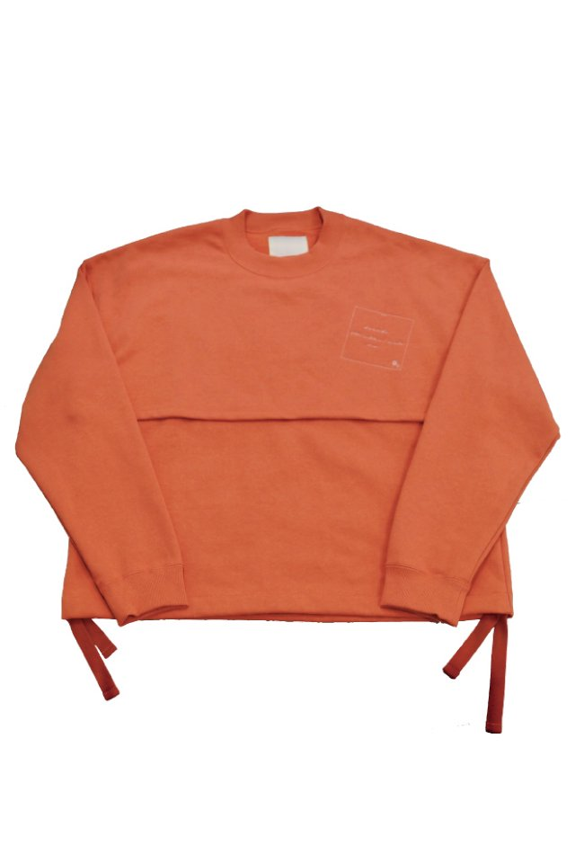 kenichi. - Double face sweat shirt (SALMON)