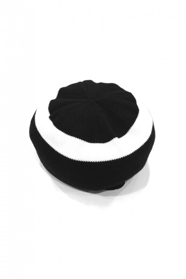 MUZE TURQUOISE LABEL - CIRCLE KNIT BERET(BLACK×WHITE)