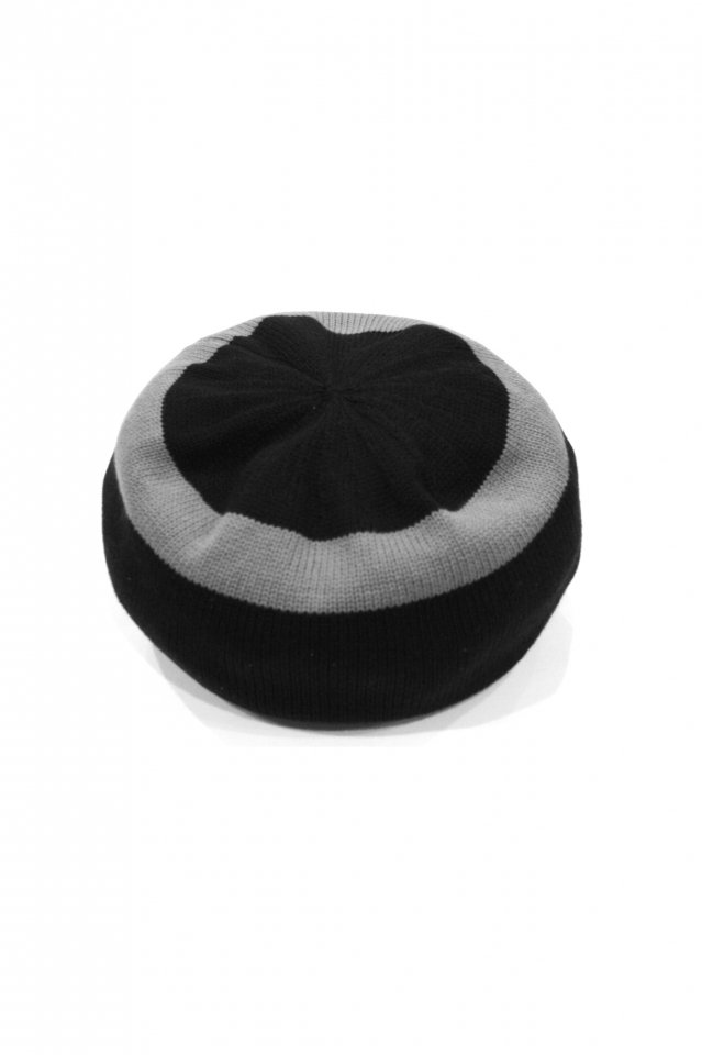 MUZE TURQUOISE LABEL - CIRCLE KNIT BERET(BLACK×GRAY)