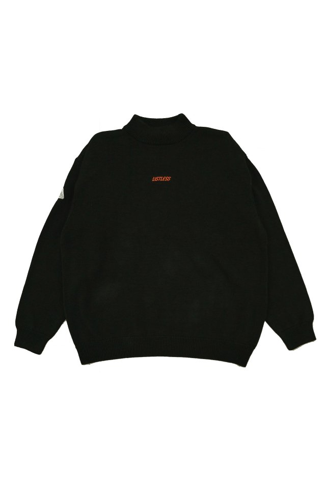 【20%OFF】LISTLESS -  MOCK NECK KNIT 『HIMITSU』 (BLACK)