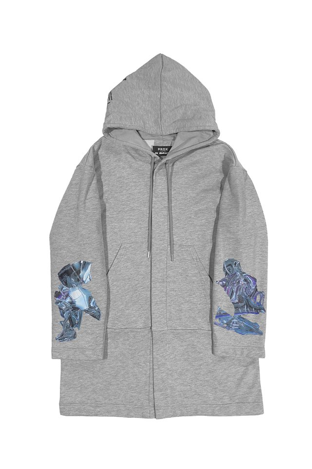 "PRDX PARADOX TOKYO×AI MAKITA - ""Metabolism"" HOODED LIGHT COAT (GRAY)"