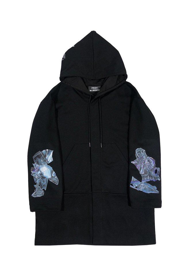 "PRDX PARADOX TOKYO×AI MAKITA - ""Metabolism"" HOODED LIGHT COAT (BLACK)"
