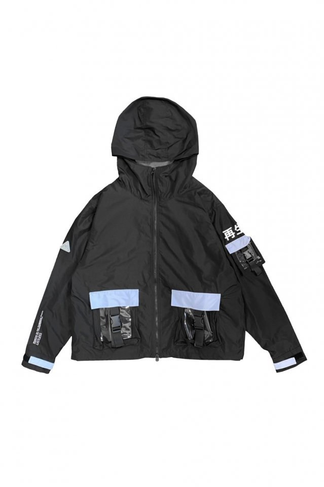 LISTLESS - 『再生3.0』-SET UP MOUNTAIN PARKA-(SPACE BLACK)