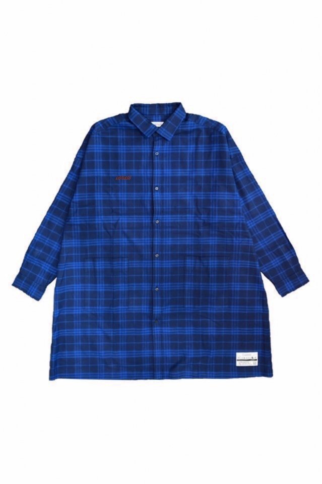 LISTLESS - 『青い夜』-LONG CHECK SHIRT-(NAVY×BLUE)