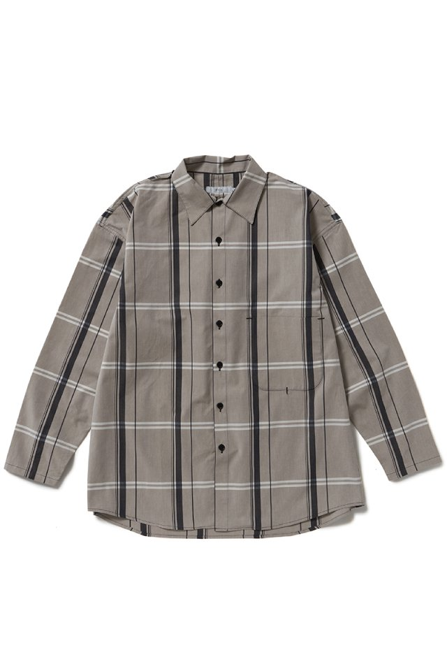 ETHOS - BIG CHECK ONE TWO SHIRTS (BROWN CHECK) 21SS COLLECTION