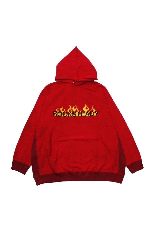 TENDER PERSON - ''ROCKSTEADY'' HOODIE (RED) 2021SSCOLLECTION