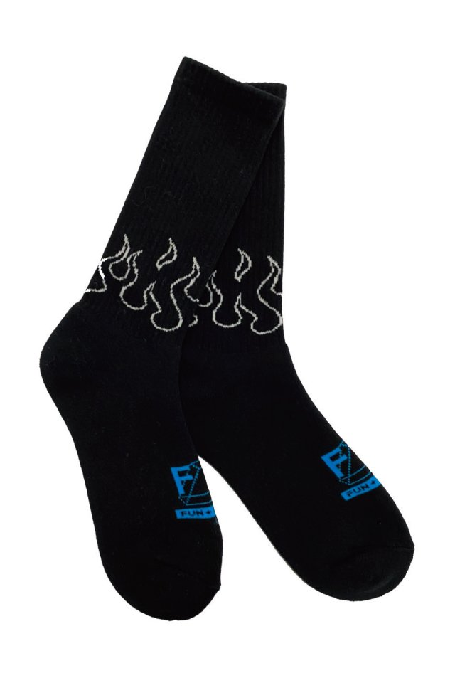 MUZE TURQUOISE LABEL × FUN - FIRE SOX Ver.II (BLACK×TURQUOISE)