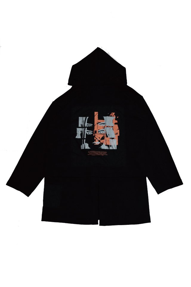 PRDX PARADOX TOKYO - HOODED LIGHT COAT ''INSIDE FLESH''(BLACK- A )