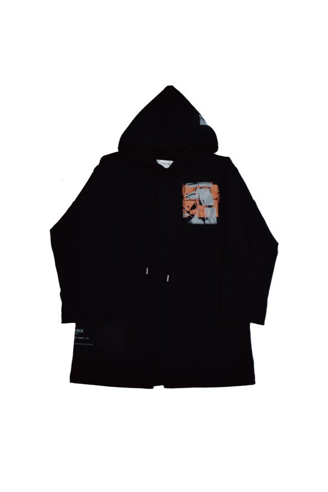 PRDX PARADOX TOKYO - HOODED LIGHT COAT ''INSIDE FLESH''(BLACK- B )