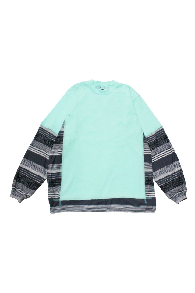 MUZE TURQUOISE LABEL - SWITCHING BORDER L/S TEE(MINT)