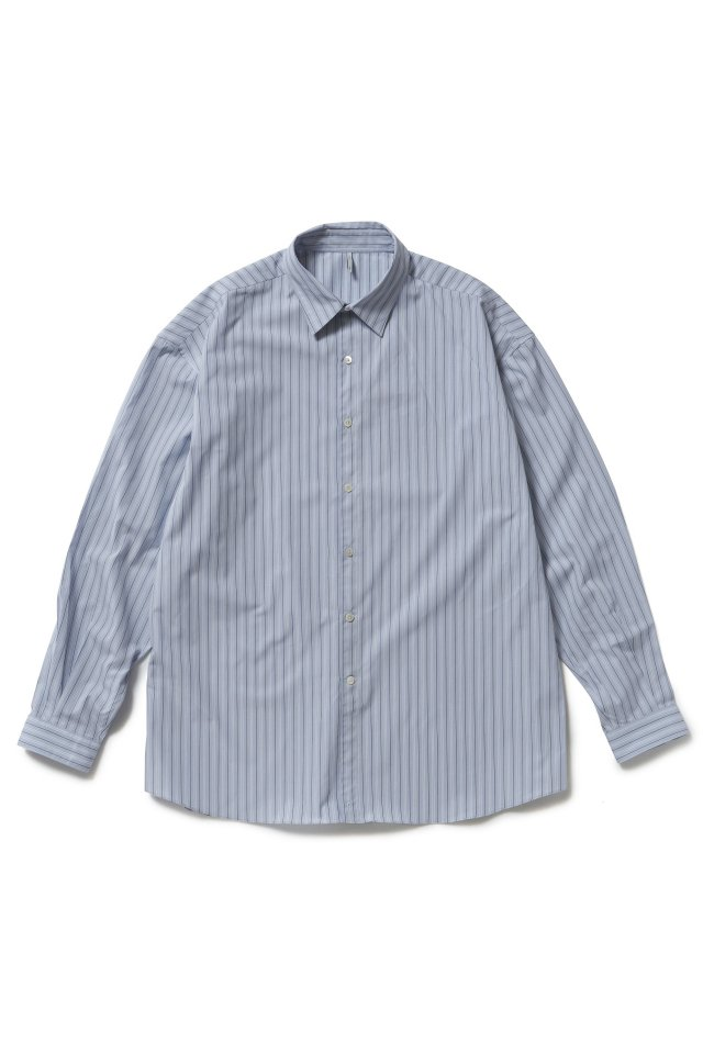 ETHOS - STRIPE CRAFTMAN SHIRTS (SAX STRIPE) 21SS COLLECTION