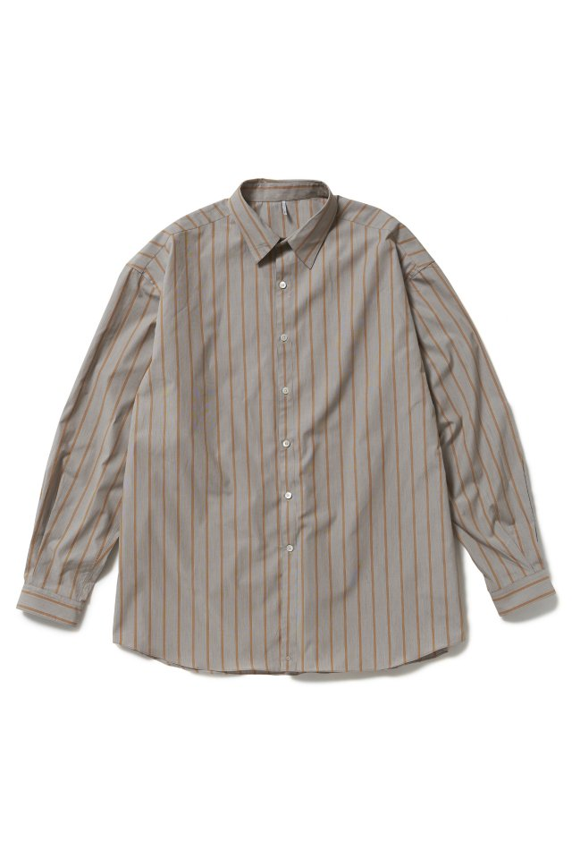 ETHOS - STRIPE CRAFTMAN SHIRTS (BROWN STRIPE) 21SS COLLECTION