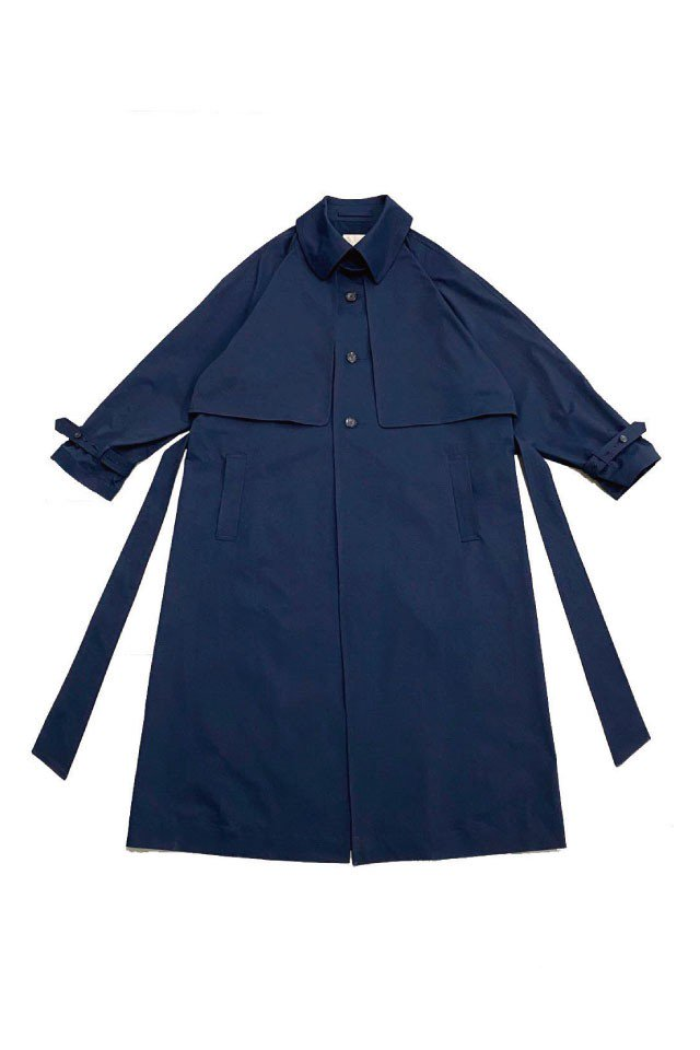 kenichi. - Single-breasted trench coat (Navy)