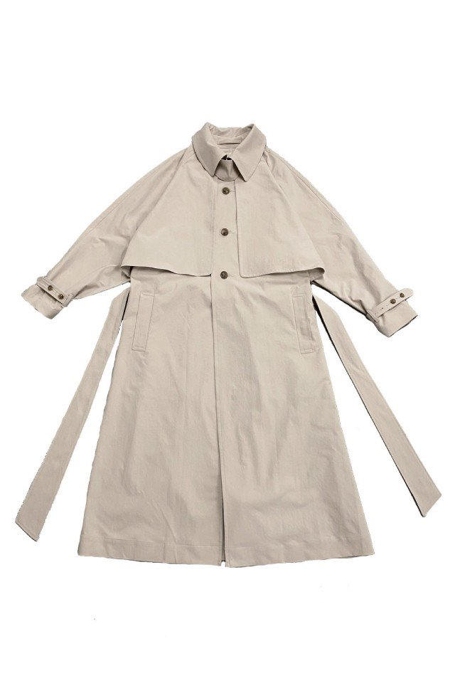 kenichi. - Single-breasted trench coat (Beige)