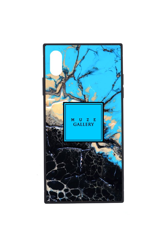 【6月中旬お届け予定先行予約商品】MUZE GALLERY - LEATHER SMART PHONE CASE(MARBLE)