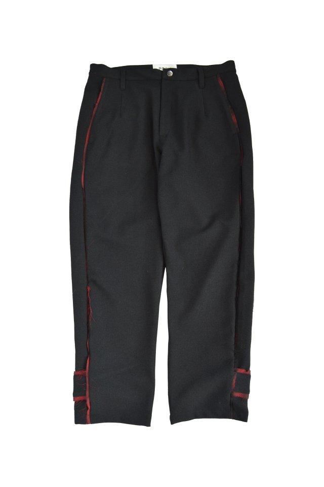 PRDX PARADOX TOKYO - SHADOW BONDAGE PANTS(BLACK-RED)