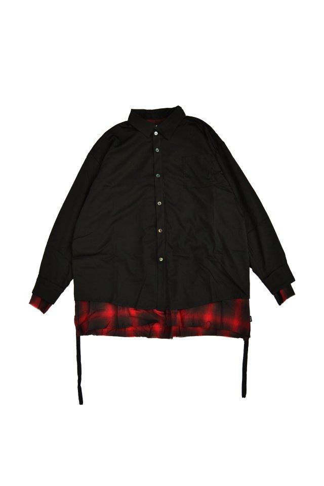 PRDX PARADOX TOKYO - SHADOW LAYERED SHIRTS(BLACK-RED)